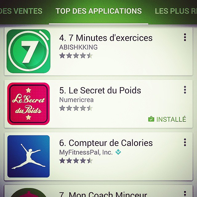 Top application santé sur Google Play