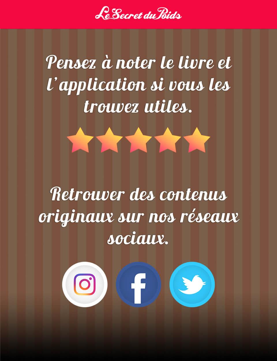 L'application Le Secret du Poids (LSDP) - Iphone, Ipad, Android